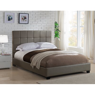 Kenville Upholstered Platform Bed Size: Queen, Color: Taupe