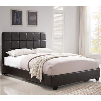 Kenville Upholstered Platform Bed Size: Queen, Color: Brown