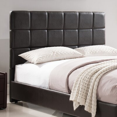 Kenville Upholstered Panel Headboard Size: Full/Queen, Color: Brown