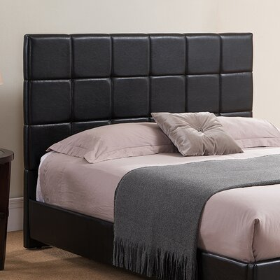 Kenville Upholstered Panel Headboard Size: Full/Queen, Color: Black