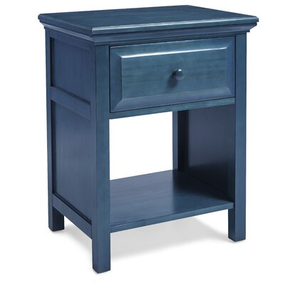 Valladares Solid Wood Cottage Style Nightstand Color: Wedgewood Blue