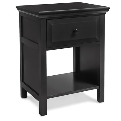 Valladares Solid Wood Cottage Style Nightstand Color: Black