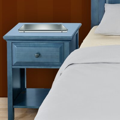 Solid Wood Cottage Style Nightstand Finish: Wedgewood Blue