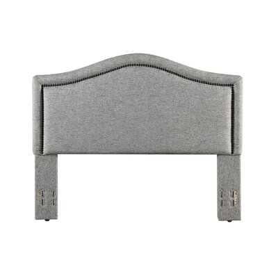 Mellen Upholstered Panel Headboard Color: Charcoal, Size: Full/Queen