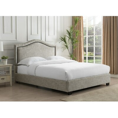Mellen Upholstered Platform Bed Color: Sandstone, Size: King