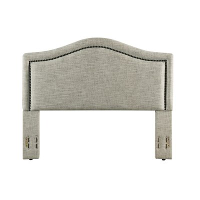 Mellen Upholstered Panel Headboard Color: Sandstone, Size: King/California King