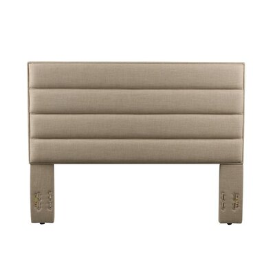 Penwell Upholstered Panel Headboard Color: Beige, Size: Full/Queen