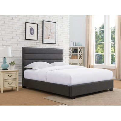 Penwell Upholstered Platform Bed Color: Charcoal, Size: Queen