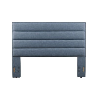 Penwell Upholstered Panel Headboard Color: Blue, Size: Full/Queen