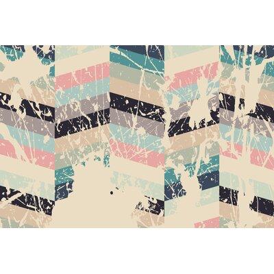 "Pastel Pattern 7"" Graphic Art on Canvas Size: 32"" H x 48"" W x 2"" D SS035C"