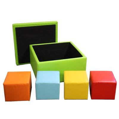 Square Storage Ottoman with Seating