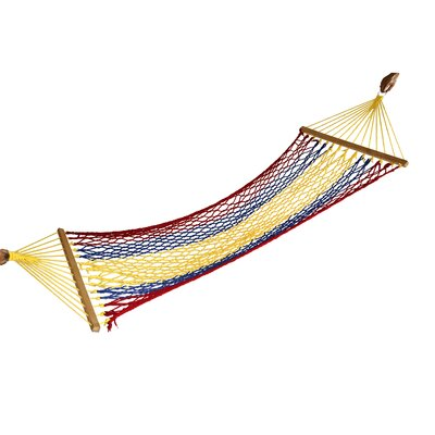 Rainbow Cotton Camping Hammock Color: Red