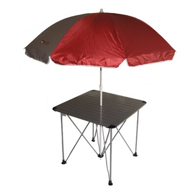 Image of Picnic Table with Umbrella