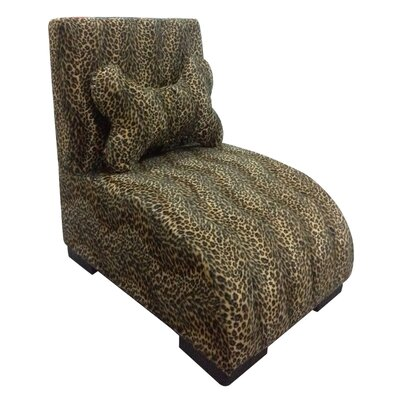 Upholstered Leopard Dog Lounge