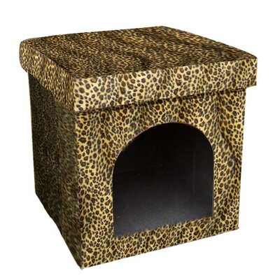 Mardell Collapsible Leopard Dog House