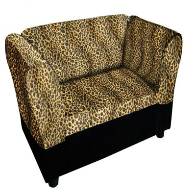 Leopard Storage Dog Sofa Bed