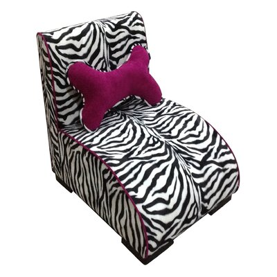 Upholstered Zebra Dog Lounge
