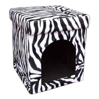 Kayleen Collapsible Zebra Dog House