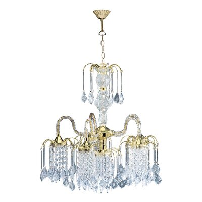 Cascading 6-Light Crystal Chandelier