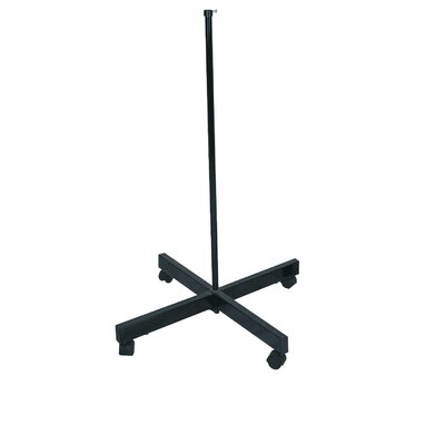 Lamp Stand with Wheels in Black