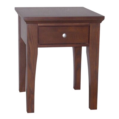 Lease to own Fraser End Table Finish: Mahogany...
