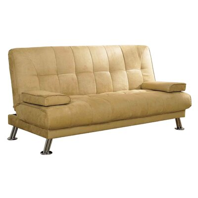 Futons Sofa Beds On Ore Leather Futon Convertible Sofa Bed In Almond