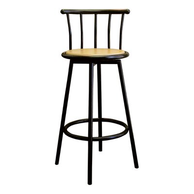 Lease to own Swivel Barstool in Black (Set of 2)...