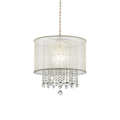 Sunikka Crystal 3-Light Drum Pendant