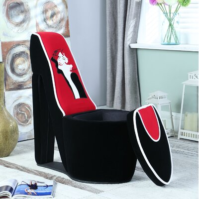 Elford Glamor Girl Piping High Heel Storage Side Chair
