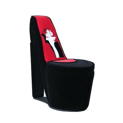 Elford Glamor Girl High Heel Storage Side Chair