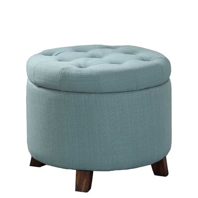 Catlin Tufted Storage Ottoman Upholstery: Teal/Green