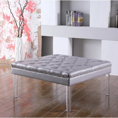 Fairhills Diamond Tufted Coffee Table Table Top Color: Gray