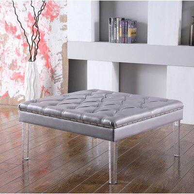 Fairhills Diamond Tufted Coffee Table Table Top Color: Gray