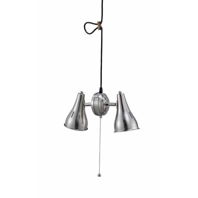 Mitchel Metal Cone 2-Light Mini Pendant