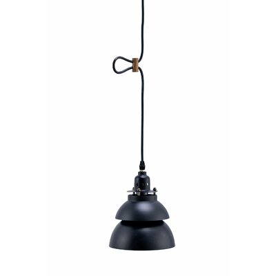 Walston Barn Metal 1-Light Mini Pendant Shade Color: Black