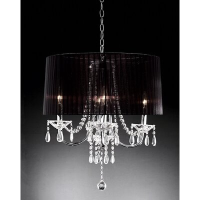 Crystal Drop 4-Light Drum Chandelier