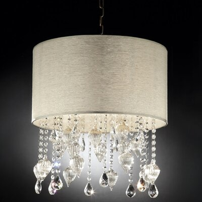 Drape Crystal 3-Light Drum Chandelier