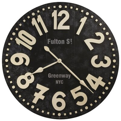 Oversized 36 Fulton Street Wall Clock