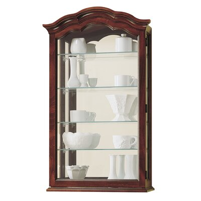 Vancouver II Wall-Mounted Curio Cabinet Finish: Cherry