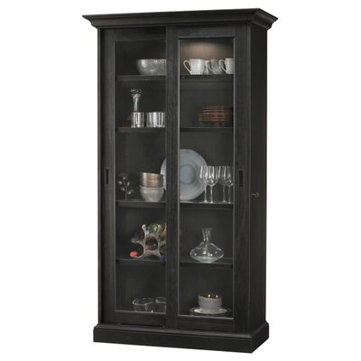Meisha Curio Cabinet Finish: Black