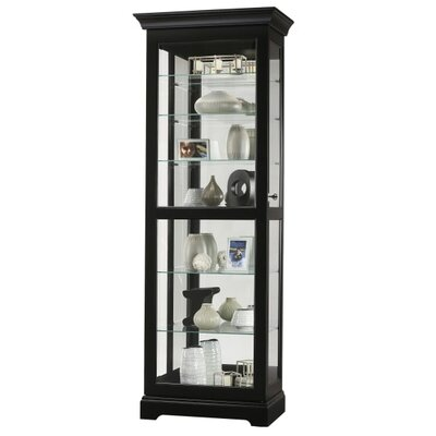 Martindale Ii Standard Curio Cabinet Finish: Black Satin