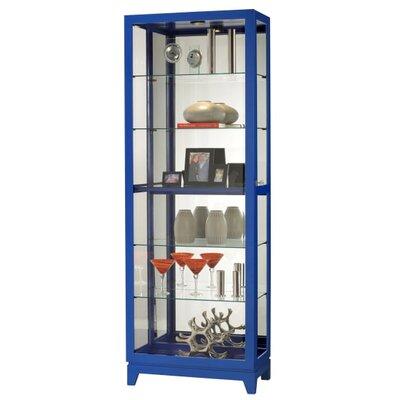 Luke Standard Curio Cabinet Finish: Gloss Lapis Blue