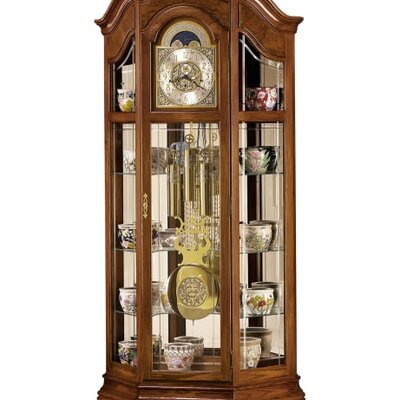 Majestic Grandfather Clock and Curio cabinet