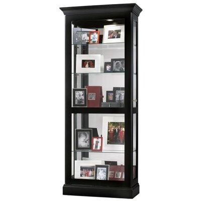 Berends 2-Way Slider Curio Cabinet Finish: Black