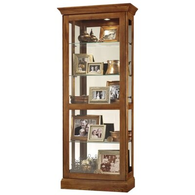 Berends 2-Way Slider Curio Cabinet Finish: Oak
