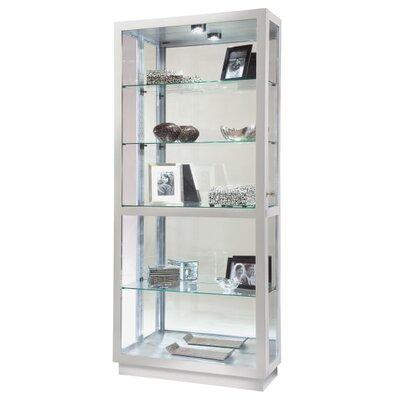 Jayden Standard Curio Cabinet Finish: Silver