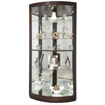 Gillian Corner Curio Cabinet Finish: Espresso