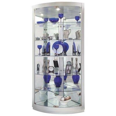 Gillian Corner Curio Cabinet Finish: Silver Finish
