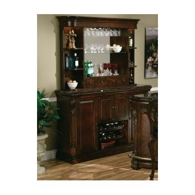 Niagara Hutch Rustic Wall and Back Bar