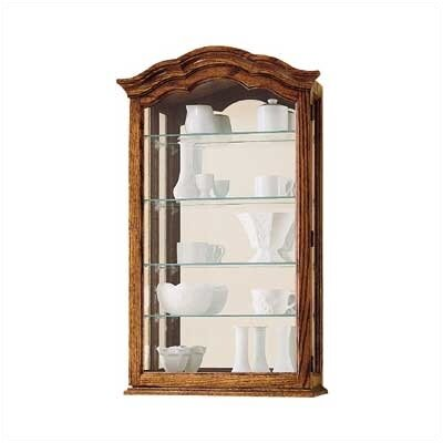 Vancouver II Wall-Mounted Curio Cabinet Finish: Oak